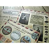 Set of 10 Sheets Vintage Stickers Deco Stickers Paper Sticker Scrapbooking