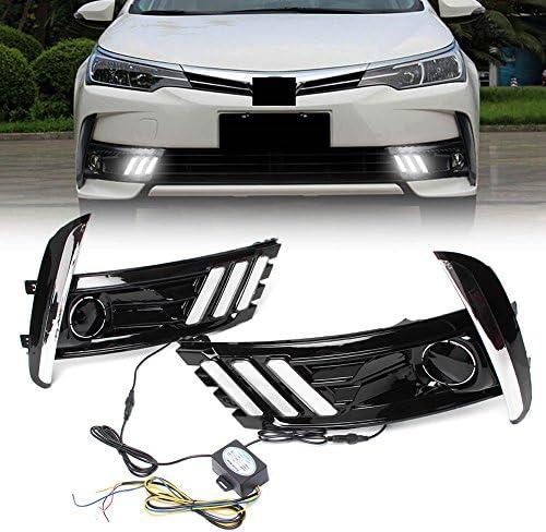 [해외]GZYF Pair LED Daytime Running Light (DRL) Turn Signal Lamp Assembly Compatible2017 Toyota Corolla / GZYF Pair LED Daytime Running Light (DRL) Turn Signal Lamp Assembly Compatible2017 Toyota Corolla