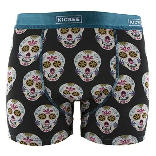 Kickee Pants Print Mens Boxer Brief Dia de Los Muertos -