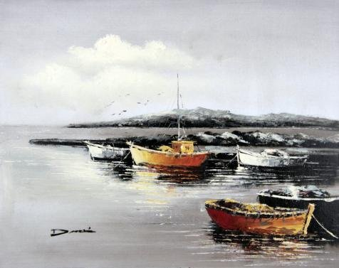 [Oil Painting 'Brown Boats With Gray Background', 8 x 10 inch / 20 x 26 cm , on High Definition HD canvas prints is for Gifts And Bed Room, Home Theater And Powder Room Decoration,] (Soccer Player Halloween Costume Boys)