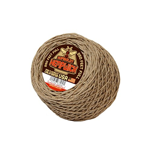 Humboldt Hemp Wick 250' Feet Made with Organic Hemp and Pure Beeswax