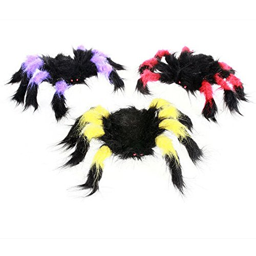 Dog Spider Costume Prank (Halloween Tricky Toys,Nesee Halloween Prank Making Tricks Funny Plush Spider Tumbling Toys)