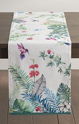 Maison d' Hermine Tropiques 100% Cotton Table Runner - Doubl