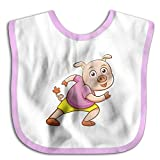 MGDBB Kids' Anti Allergic Funniest Cartoon-Pig Bandana Drool Bibs