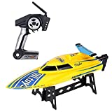 GordVE RC Boat The Best Gift for Kids,4CH 2.4G High Speed RC Boat RTF Charging Remote Control Boat -Yellow