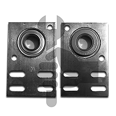 "Garage Door Parts Flat End Bearing Plate 12 gauge 3 3/8""( Pair )"