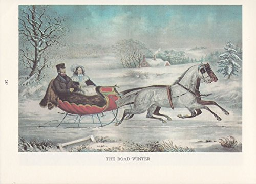 1974 Vintage Currier & Ives COUNTRY LIFE