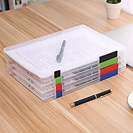 Amazon.com : Chris.W 4Pack A4 File Box, Office Supplies Holder ...