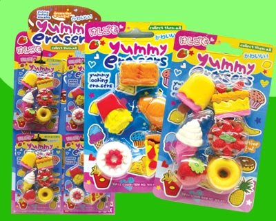You Get 1 Yummy Erasers Pack Foods Will Vary in Pack
