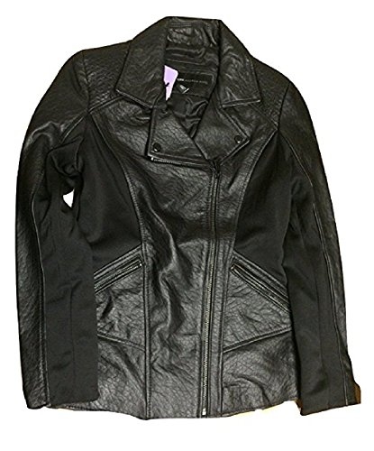 Marc New York by Andrew Marc Leather Moto Jacket, Black, LARGE
