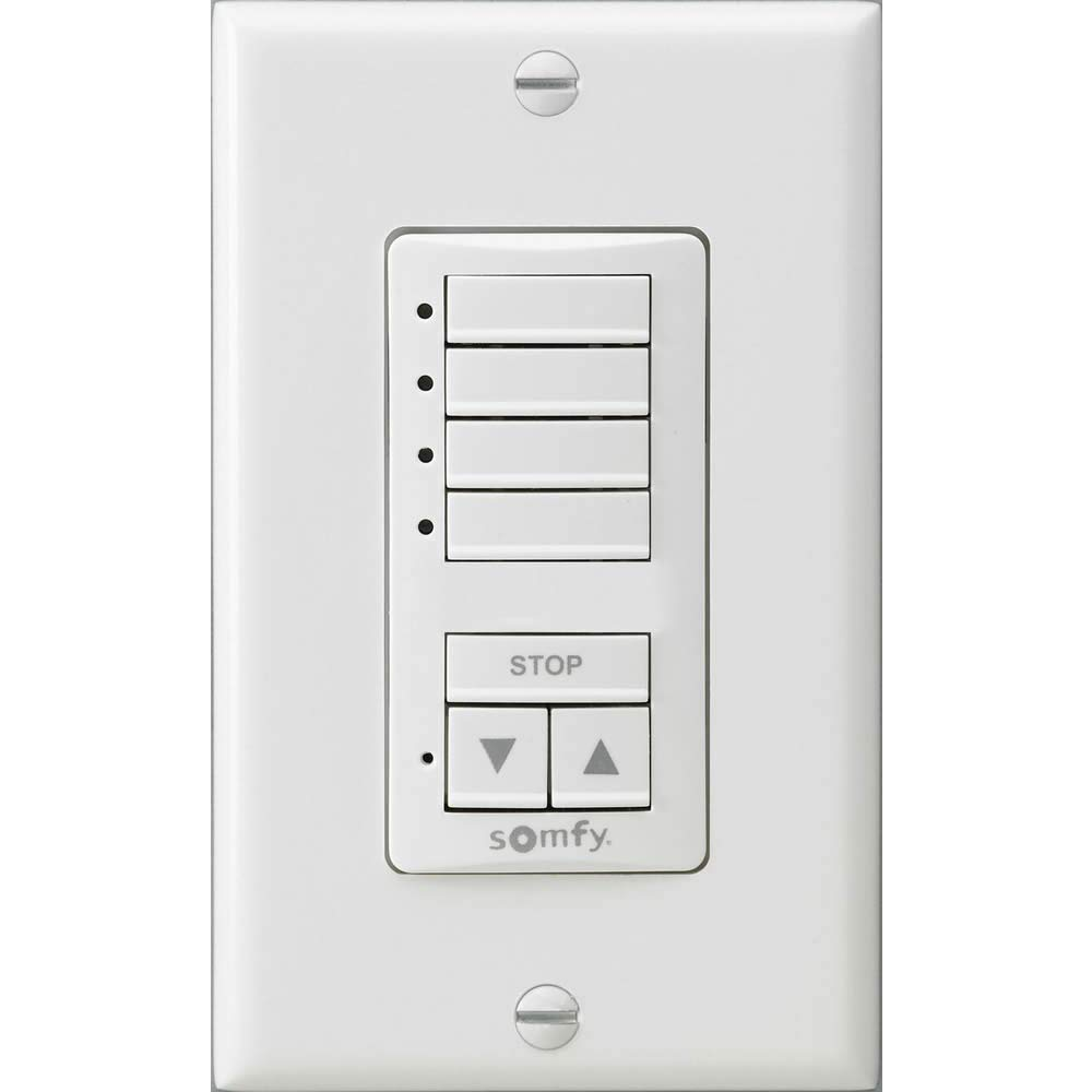 Somfy DecoFlex WireFree RTS Wall Switch, 4 Channel, White (1811074)