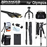 Advanced Accessory Kit For Olympus E-PL5 Interchangeable Lens Digital Camera Includes Extended (1400mAh) Replacement BLS-5 Battery + Ac/Dc Travel Charger + Deluxe Case + Mini HDMI Cable + 57 Pro Tripod + 67 Monopod + USB Reader + Screen Protectors +More