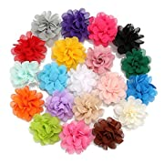DOTASI 6pcs Bohemian Flower Printing Baby Girls Toddler Turban Knot Elastic Cutton Bow Headband Head Wrap Soft Hair Band