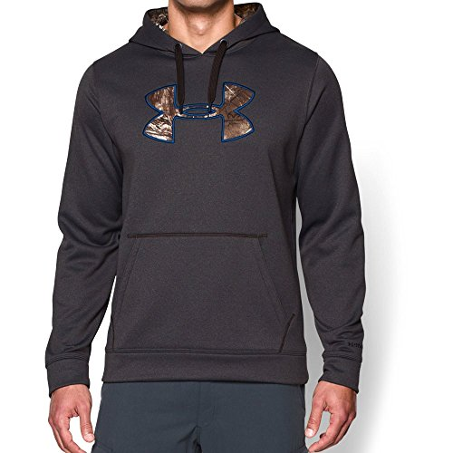 Under Armour Men's Storm Caliber Hoodie, Carbon Heather/Realtree Ap-Xtra, Large