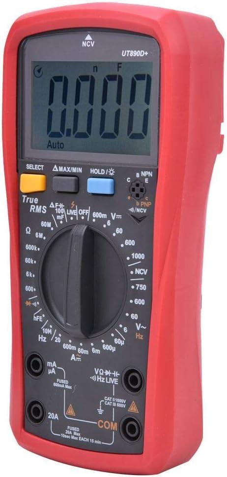 Resistance handheld 6000-digit volt-ampere meter Genuine RMS-AC-DC digital multimeter for power maintenance technicians on site in the office