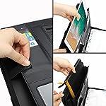 wilbest® porte documents en cuir multifonctionnel dossier de conférence de A4 avec la calculatrice et les poignées… 8