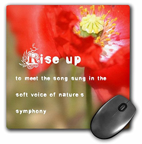3dRose Patricia Sanders Flowers - Nature s Symphony Poem Red Poppy- Flowers- Photography - MousePad (mp_33906_1)