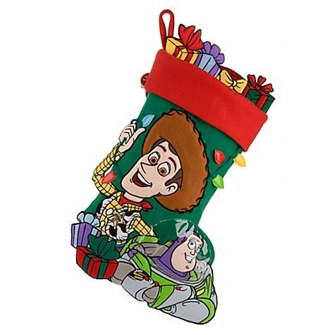 Disney Toy Story Woody and Buzz Lightyear Large Christmas Stocking From Disney Resort by Disney