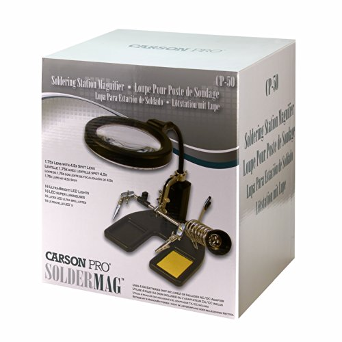 Carson SolderMag 1.75x LED Lighted Soldering Magnifier with 4.5x Spot Lens (CP-50)