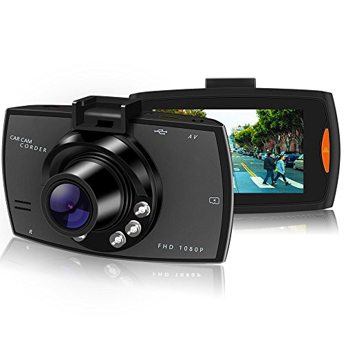 Dash Cam, Full HD 1080P, Car Camera Car On-dash Video Recorder Dashboard Camera with 140°Wide Angle Night Vision...