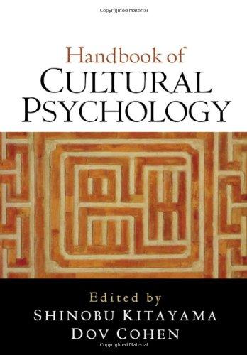 Handbook of Cultural Psychology Cultural Handbook