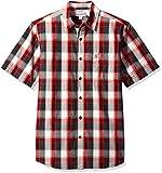 #10: Carhartt Men's Essential Plaid Open Collar Short Sleeve Shirt