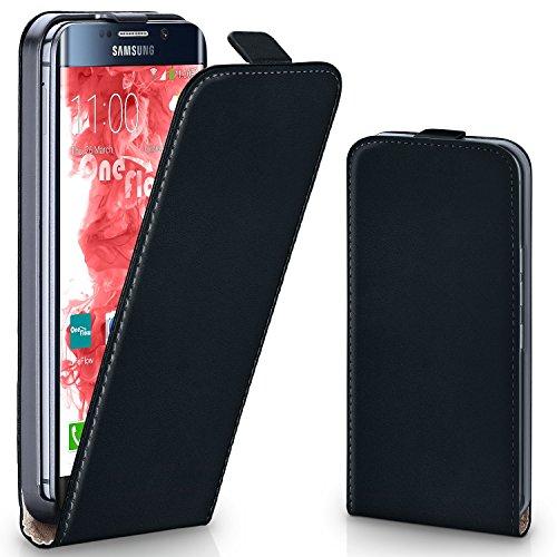 Ultra Flip PU Leather Case for Samsung Galaxy S6 Edge Plus (Black) - 1