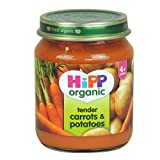 HiPP Organic - Baby Food 4+ Months - Tender Carrots & Potatoes - 125g (Case of 6)