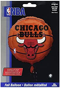 Anagram International A11373201 Chicago Bulls Balloon Pack, 18""