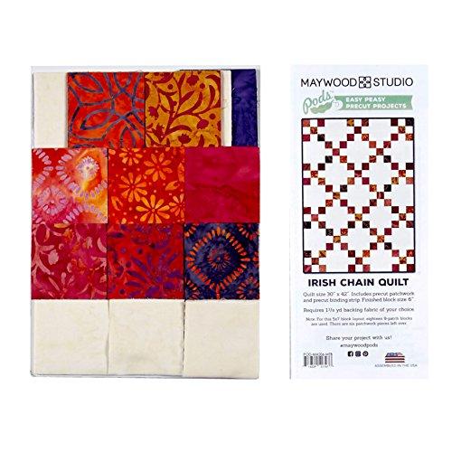 (Maywood Studio Mango Tango Batiks Irish Chain Quilt Kit Multi)