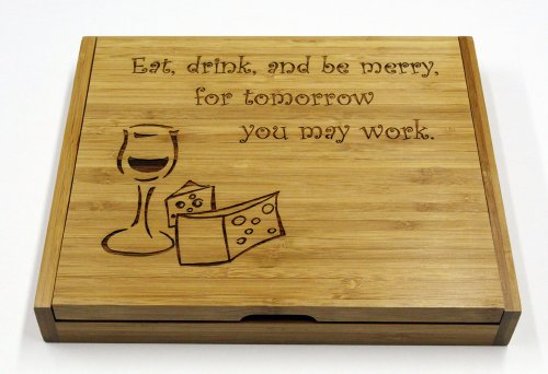 (Soiree Cheese Board Set Gift - Eat, Drink, and Be Merry)