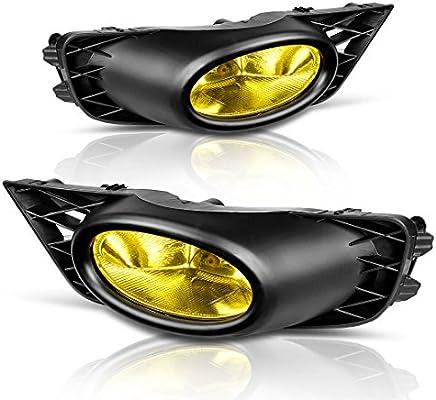 Fog Lights For Honda Civic Sedan 2009 2010 2011 (Real Gl Yellow Lens on
