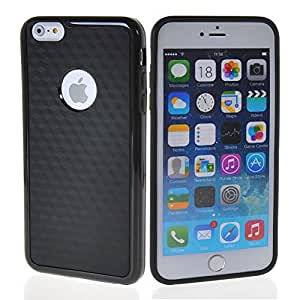 HUAZHUN Flexible TPU Gel Soft Silicone Skin Shell Back Case Cover for Apple iPhone 6 Plus Black