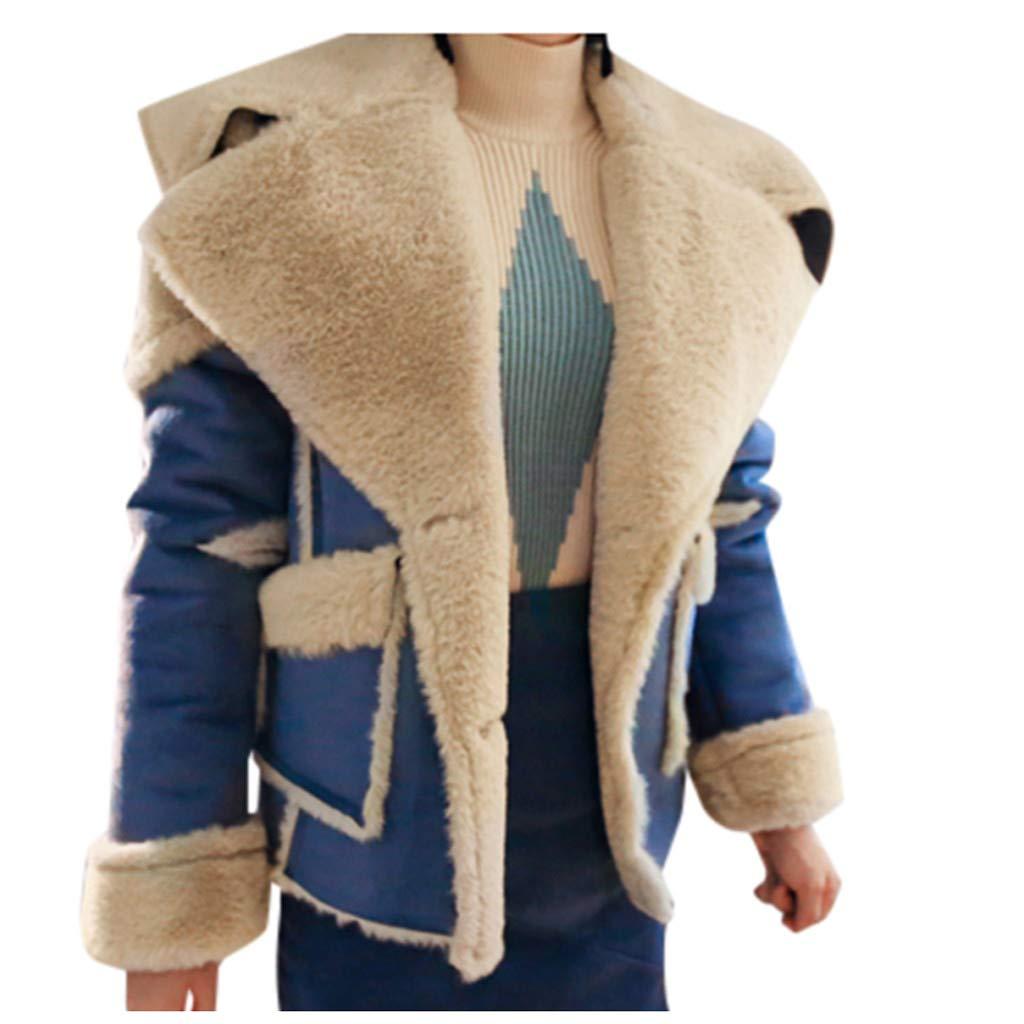Wenini Womens Oversize Lapel Wrap Shoulder Coat Cashmere Wool Blend Trench Coat Outwear Jacket by Wenini Women Coat