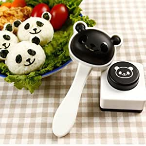 Panda Shape Sushi Maker Rice Ball Onigiri Mold Mould + Nori Punch DIY Bento