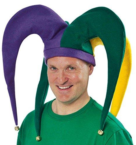 [Amscan 391191AM Giant Mardi Gras Jester Hat] (Jumbo Mardi Gras Beads)