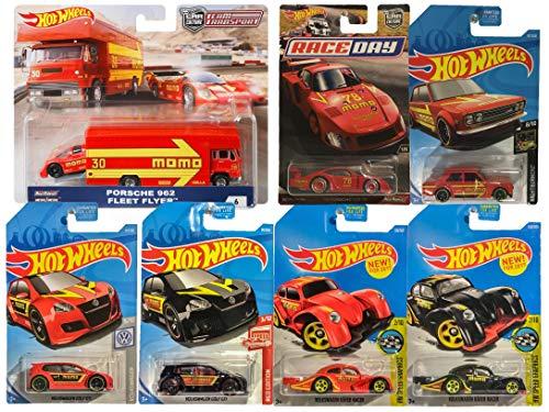 Hot Wheels  Real Riders Car Culture Teamsport 6/6 MOMO Racing Bundle 7pk Cars 1 Transport Truck (