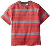 C-Life Group Little Boys' V-Neck Roller Printed Stripe Deep Red