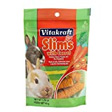 Vitakraft Pet Rabbit Slims with Carrot - Nibble Stick Treat, 1.76 Ounce Pouch