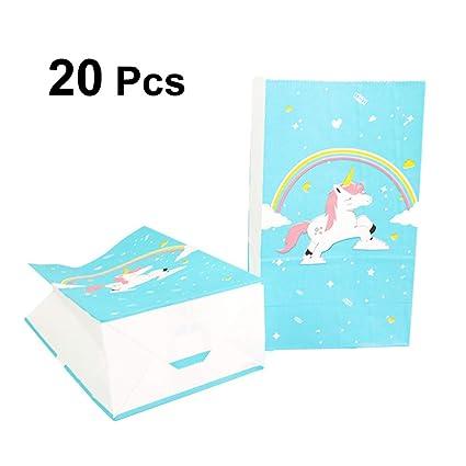 Healifty 20PCS Bolsas de fiesta Unicornio Bolsas Kraft Paper ...