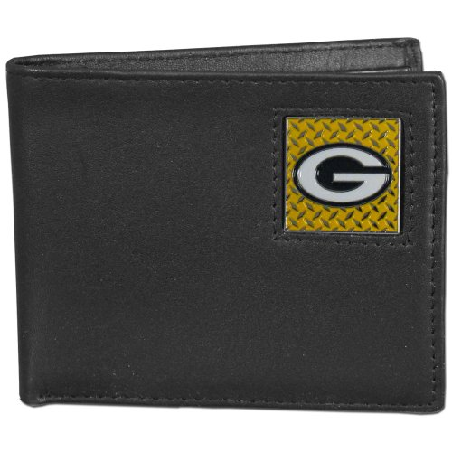 Tin Nfl Packers Green Bay (NFL Green Bay Packers Gridiron Leather Bi-Fold Wallet)