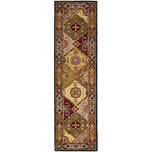 Safavieh Heritage Collection HG512B Handmade Traditional Oriental Multi and Red Wool Runner (2'3 x 10′)