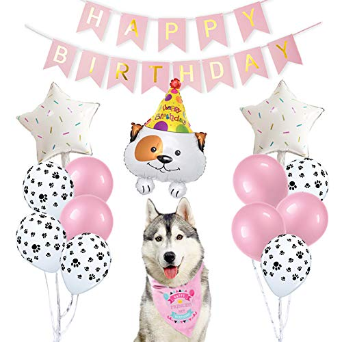 ETLEE Dog Birthday Party Supplies - Dog Bandana