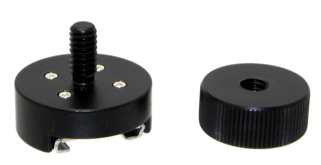 2 Pack Desmond All Metal Cold Shoe Flash Adapter w 1/4 Thread & Nut Fits Magic Arm
