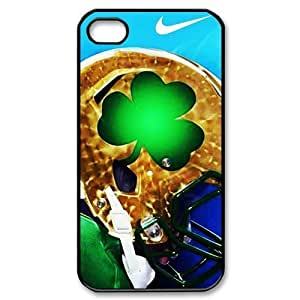 DIY Dream 7 Sports NCAA Notre Dame Fighting Irish Print Black Case With Hard Shell Cover for For HTC One M7 Case Cover -Just DO It