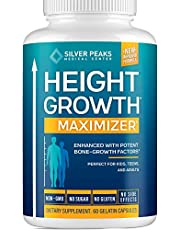 Height Growth Maximizer - Natural Height Pills to Grow Taller - Made in USA - Growth Pills with Calcium for Bone Strength - Get Taller Supplement That Increases Bone Growth - Free of Growth Hormone