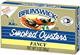 BRUNSWICK Fancy Smoked Oysters, 3 Ounce Can