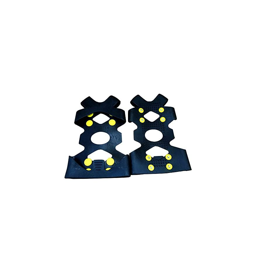Calunce Ice 8 Steel Studs Traction Snow Traction Cleats Device Snow Traction Cleats for Snow and Ice