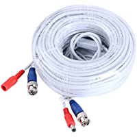 SANNCE Special Design 30M / 100 Feet BNC Video Power Cable For HD CCTV Camera DVR Security System (White)