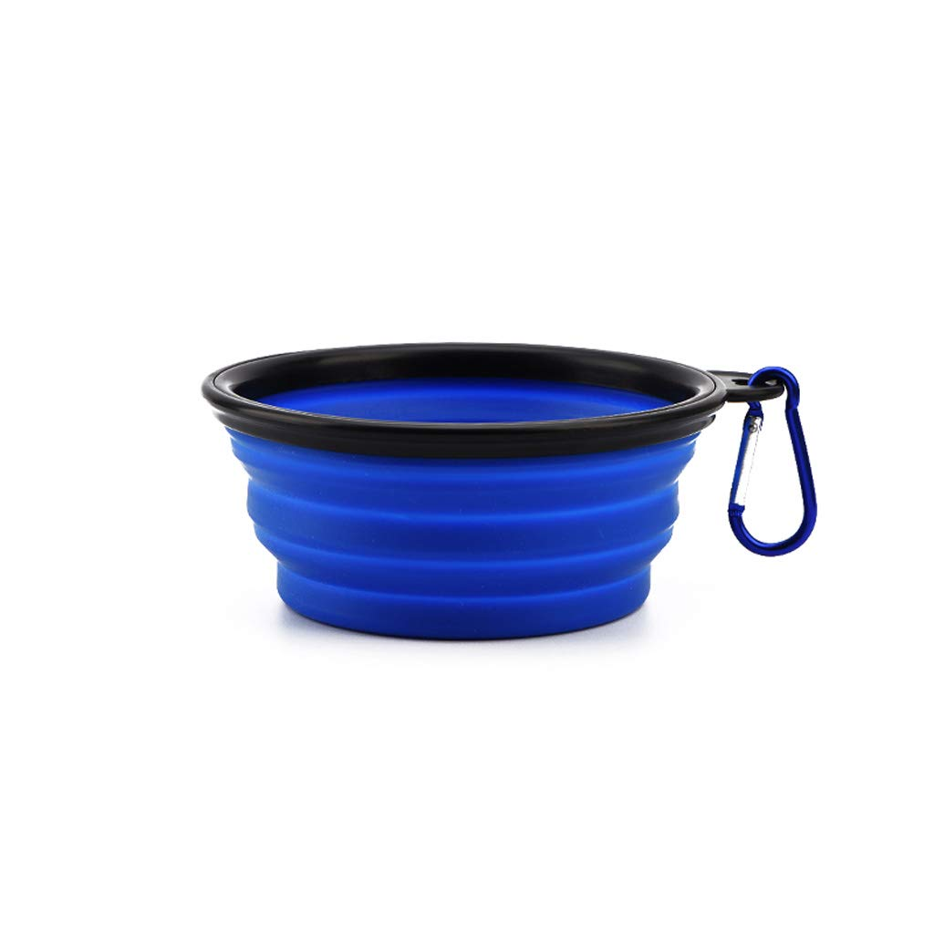 S Out-of-Port Portable Pet Bowl Silicone Folding Dog Bowl Dog Pot Cat Pot Pet Supplies (Size   S)